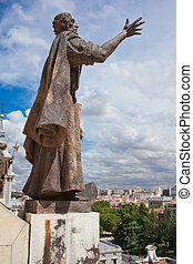 Almudena Cathedral - Beautiful view from top of Almudena ...