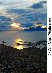 Beautiful view Lofoten Islands in Norway