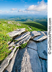 Blue Ridge Parkway - Beautiful view looking out from the ...