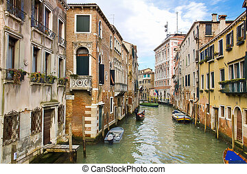 Venice - Beautiful view of a Canal in Venice, Italy