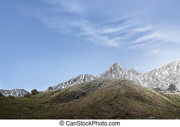 Beautiful view of a mountainside