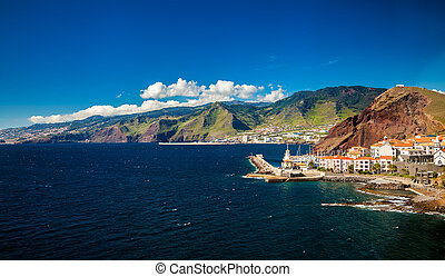 small town Canical on the eastern coast of Madeira