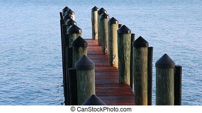 Wooden Pier On The Atlantic Ocean - Beautiful View Of A...