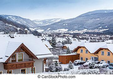 view of Alpine village at Austria