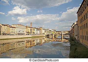 Beautiful view of Arno, in Florence, Italy