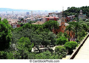 beautiful view of barcelona city