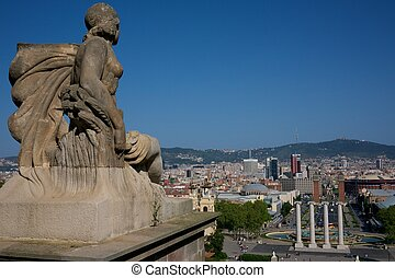 Beautiful view of Barcelona city