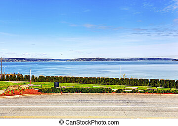 Beautiful view of bay from house walkout deck