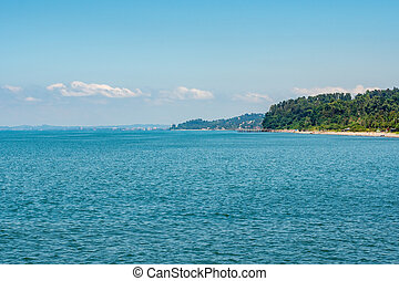 Beautiful view of Black Sea in Adjara
