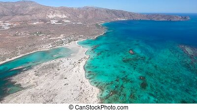 Beautiful view of blue beach Elafonissi at Crete - Beautiful...