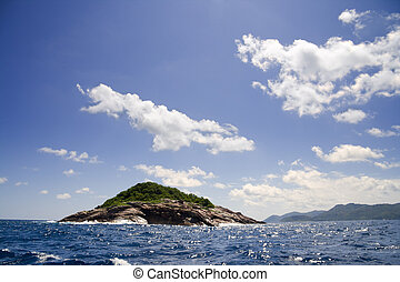 Booby Island - Beautiful view of Booby Island in Seychelles