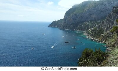 beautiful view of capri Island at Italy