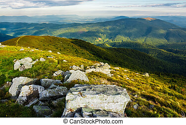 beautiful view of Carpathians in dappled light. wonderful...