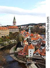 Beautiful view of Cesky Krumlov, Czech Republic - UNESCO ...