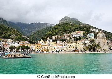 beautiful view of Cetara, Amalfi Coast, Italy