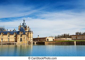Beautiful view of Chateau de Chantilly in France - Beautiful...