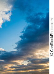 Beautiful view of cloudy sunset sky