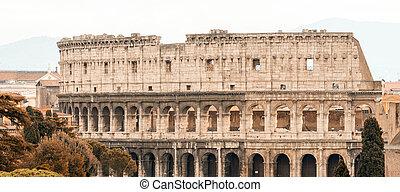 Beautiful view of Colosseum, Rome landmark