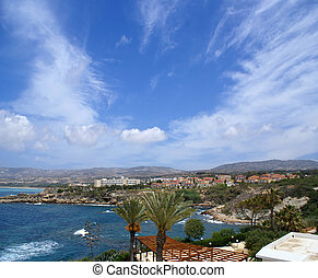 Beautiful view of Cyprus (Paphos, the resort)
