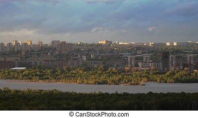 Beautiful view of downtown Novosibirsk