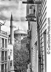 Beautiful view of Hagia Sophia museum, Istanbul