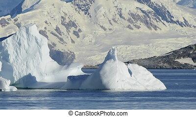 Beautiful view of icebergs in Antarctica - Beautiful view of...