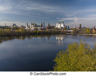 Beautiful view of Kremlin in Izmailovo in Moscow, Russia