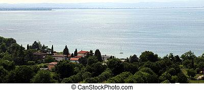beautiful view of Lake Garda in Italy