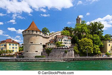 Lucerne, Switzerland - Beautiful view of Lucerne,...