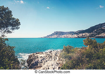 Beautiful view of Monaco on sunny summer day.