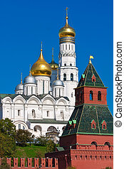 Moscow Kremlin - Beautiful view of Moscow Kremlin walls, ...