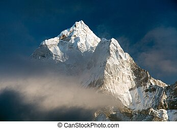 beautiful view of mount Ama Dablam