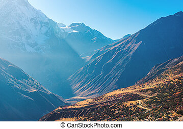 Beautiful view of mountain valley. Landscape