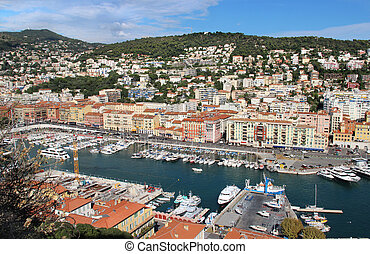Beautiful view of Nice, France, Provence