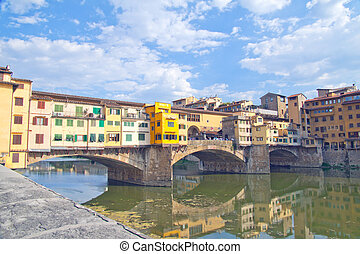 Ponte Vecchio - Beautiful view of Ponte Vecchio, at...