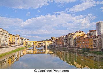 Ponte Vecchio - Beautiful view of Ponte Vecchio, at Florence...