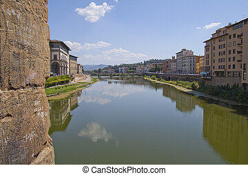 Arno - Beautiful view of river Arno in Florence, Italy