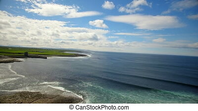 Beautiful view of sea 4k