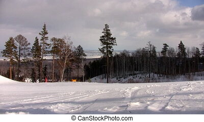 Beautiful view of ski resort