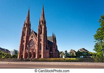 Beautiful view of St Paul Church in Strasbourg - Saint Paul ...