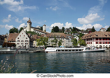 Swiss Town Schaffhausen - Beautiful View of Swiss Town...