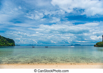 beautiful view of Thailand - a sea landscape with clouds over the sea