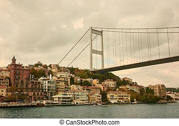 beautiful view of the Bosphorus Bridge