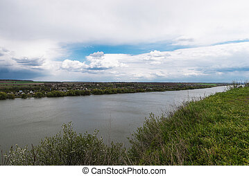 Beautiful view of the Dniester River