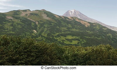 Beautiful view of the hills in the area Vilyuchinsky...