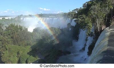 Beautiful view of the Iguazu Falls