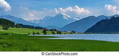 lake - Beautiful view of the lake Muta (Haidersee) and...