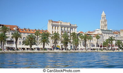 Beautiful view of the old town Split in Croatia.