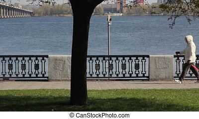 Beautiful view of the river from the embankment