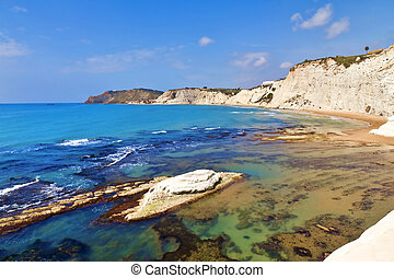Scala dei Turchi, Sicily, Italy - Beautiful view of the...